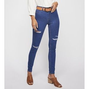 Free People | Long and Lean Vintage Wash Jeans 28